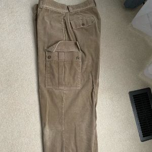 Mens Polo corduroy cargo pants